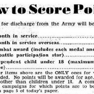 Advanced Service Rating Score guidelines, reportedly published in Stars & Stripes.